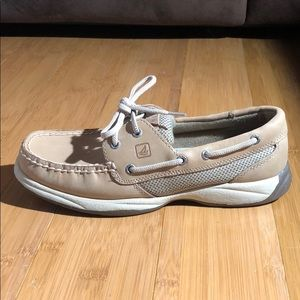 Sperry Top Siders Intrepid Boat Shoe Linen 6.5M